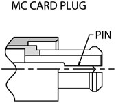 MC card connector drawing